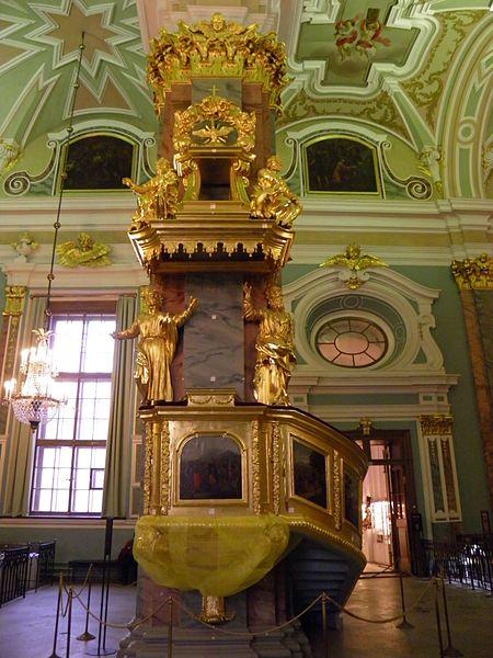 File:Forteresse Pierre-et-Paul - cathédrale Saints-Pierre-et-Paul - intérieur - chaire (1).jpg