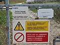 Foxton Sewage Treatment Works sign - geograph.org.uk - 279578.jpg
