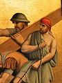 Fr Pfettisheim Chemin de croix station VII Man with rope detail.jpg