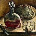 François Barraud - Nature morte avec carafe de vin, pain et lunettes.jpg