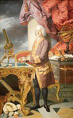Herzog Franz Stephan I. von Lothringen (1708-1765), in ganzer Figur in seinen naturhistorischen Sammlungen