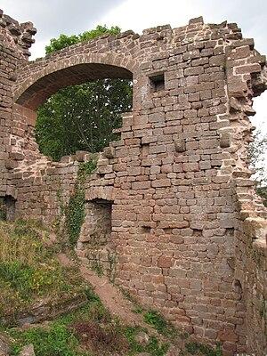 Château de Dreistein - Image: France Western Dreistein castle arch