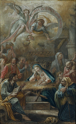 Birth of Jesus and the Adoration of the Shepherds