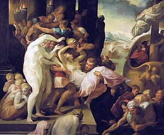 Trojan War - The Abduction of Helen (1530–39) by Francesco Primaticcio, with Aphrodite directing