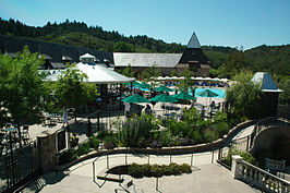 Resort-faciliteiten op de Francis Ford Coppola Winery in 2011