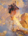 Frank W. Benson - Against the Sky, circa 1910 - AI upscaled.png