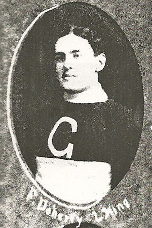 Ontario Professional Hockey League - Fred Doherty with the Galt Professionals around 1911.