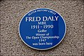 Fred Daly plaque, Portrush - geograph.org.uk - 568378.jpg
