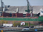 Freighter Whistler moored at the Redpath Sugar Refinery, 2013 05 02 -f.JPG