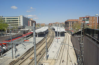 Fuenlabrada - Fuenlabrada Central Railway (and Metro) Station.