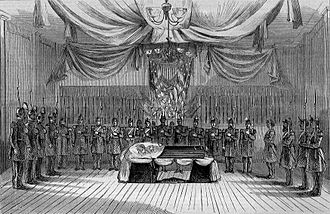 Edward Canby - Funeral of the Late General Canby -- the Body Lying in State