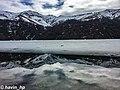 Göygöl National Park and reflection of mountains in the Maral gol.jpg