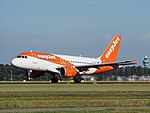 G-EZFY easyJet Airbus A319-111 cn4418 takeoff from Schiphol (AMS - EHAM), The Netherlands pic1.JPG