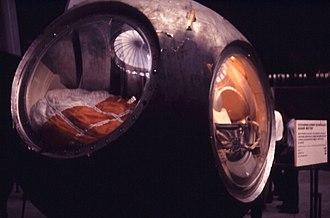 Memorial Museum of Cosmonautics - Image: Gagarin's capsule in Moscow Cosmonautics museum