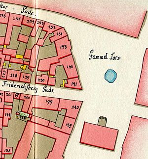Gammeltorv - Gammeltorv seen on Gedde's map of Copenhagen's Vestre Quarter