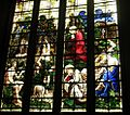 Garden of Eden stained glass window at SS Peter and Paul's Church, North Curry, Somerset.jpg