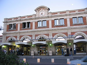 Description: The train-station of Perpignan, F...