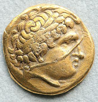 Philippeioi - Image: Gaul imitation stater Philip II Cd M Paris