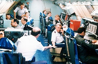 Boeing EC-135 - Gen. Richard A. Ellis, CINCSAC, in battle staff compartment