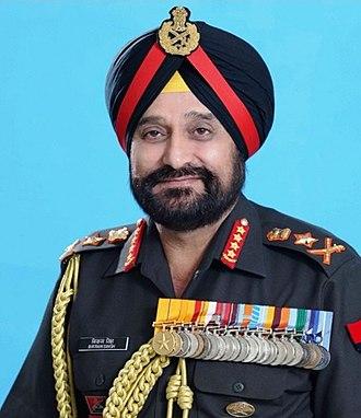 Chairman of the Chiefs of Staff Committee - Image: Gen Bikram Singh