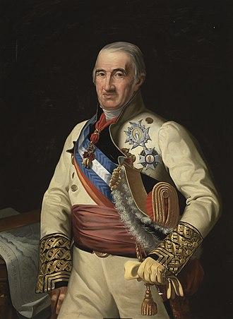 Francisco Javier Castaños, 1st Duke of Bailén - Francisco Javier Castaños; portrait by José María Galván y Candela.