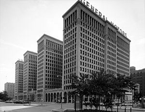 General Motors Building, View southeast showin...