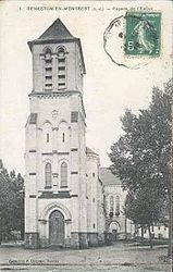 The church in Geneston, in the early 20th century