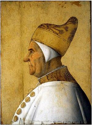 Gentile Bellini - Doge Giovanni Mocenigo, c. 1478; Tempera on panel; Museo Correr, Venice.