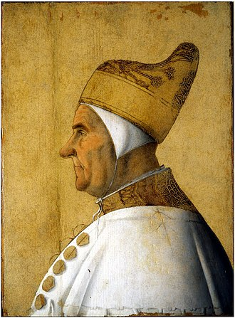 Giovanni Mocenigo - Portrait of Giovanni Mocenigo, by Gentile Bellini