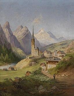 Georg Geyer Blick auf Heiligenblut 1889