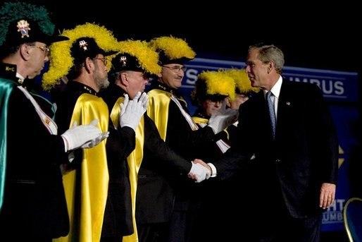 George W. Bush meeting Knights of Columbus in Dallas, Texas