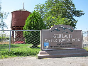 Gerlach, Nevada - The water tower in Gerlach is listed on the National Register of Historic Places.