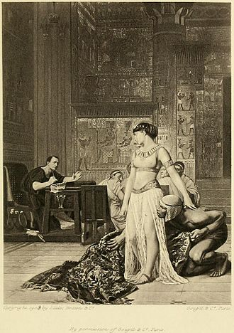 Cleopatra and Caesar (painting) - A Goupil illustration (1909)