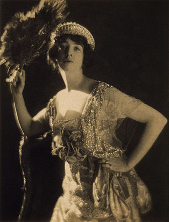 Gertrude Vanderbilt Whitney wearing a jeweled ...