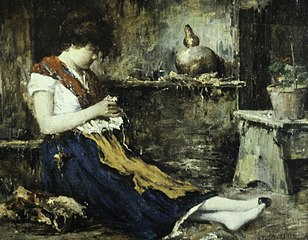 Seated Woman, Sewing