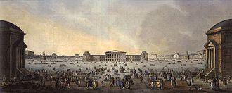 Giovanni Antonio Antolini - Plans for the Foro Buonaparte in Milan (seen from the Porta Sempione)