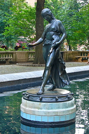 Widener Gold Medal - Image: Girl w duck Rittenhs Sq