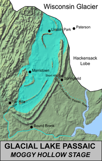 former glacial lake in New Jersey