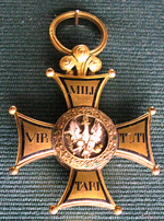 Golden Cross of Virtuti Militari Order from 1813.png