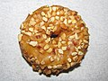 Golden Donut Maple with Peanut Topping Doughnut (30801404445).jpg
