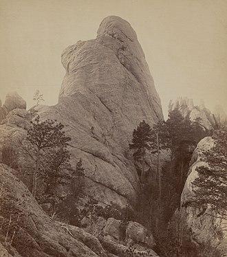 John C. H. Grabill - Calamity Peak, Black Hills of South Dakota. 1891 Grabill photo.
