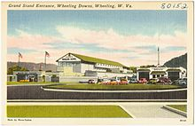 Grand Stand entrance, Wheeling Downs, Wheeling, W. Va (80152).jpg