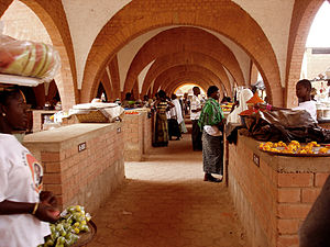 The Grand marché (Main Market) of Koudougou