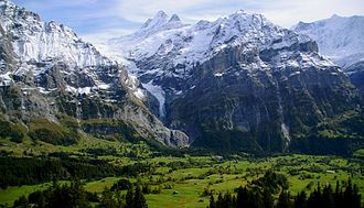 Geography of Switzerland - Bernese Alps in Grindelwald