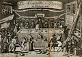 Groups of people and animals are gathered around a table of Wellcome V0040844.jpg
