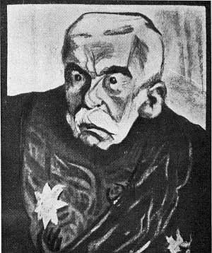 Pyotr Durnovo - Cartoon by Zinovii Grzhebin, 1906