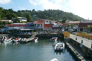 Trois-Rivières, Guadeloupe - The harbour of Trois-Rivières