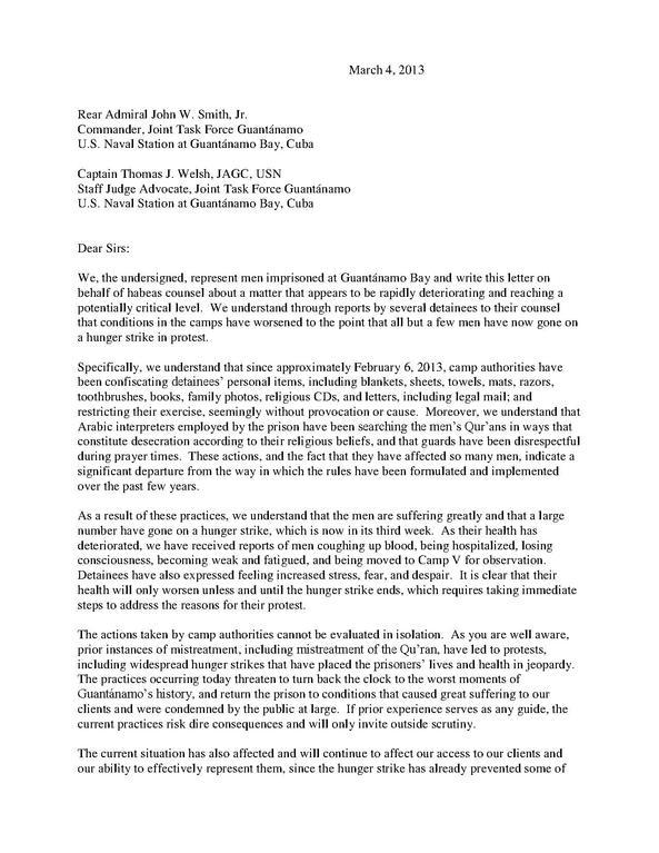 file guantanamo captives u0026 39  lawyers u0026 39  protest letter pdf