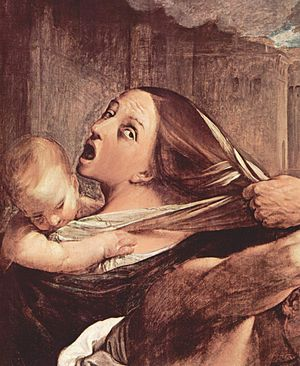 Fear - Painting by Guido Reni c. 1611