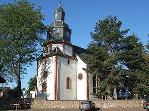 Roßdorf - The Protestant church in Gundernhausen